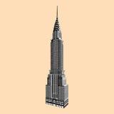 Empire State Building célèbre de New York illustration stock