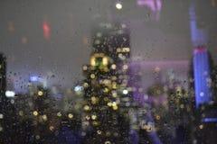 Empire State Building d'une fenêtre Photos libres de droits