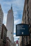 Empire State Building de Stad in van Manhattan, New York Royalty-vrije Stock Foto's