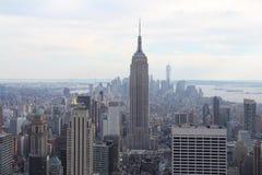 Empire State Building di vista di New York Manhattan Immagini Stock