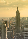 Empire state building at dusk Royalty Free Stock Images