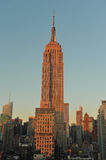 Empire State Building at dusk Royalty Free Stock Photo