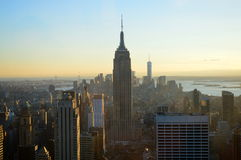 Empire State Building een Horizon van New York stock fotografie