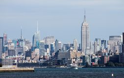 Empire State Building. Stands out in the Manhattan skyline royalty free stock image