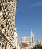 Empire State Building en de Strijkijzerbouw Stock Afbeelding