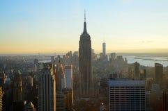 Empire State Building en Newyork horisont arkivbild