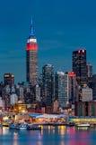 Empire State Building en presidentes Day Fotos de archivo libres de regalías