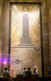 The Empire State Building entrance hall Stock Photos
