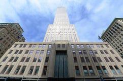 Empire State Building granangular, Manhattan Imágenes de archivo libres de regalías