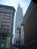 Empire State Building. From Herald Square and West 34th Street stock images