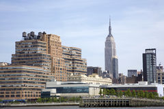 Empire State Building from the Hudson Stock Photos