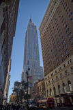 The empire state building. From low angle Stock Photo