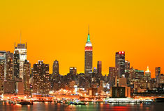 The Empire State Building and Manhattan Stock Photos