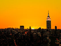 The Empire State Building and Manhattan Royalty Free Stock Image