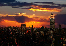 The Empire State Building and Manhattan Stock Images