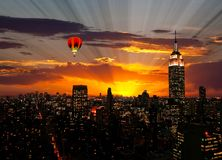 The Empire State Building and Manhattan Midtown Skyline Royalty Free Stock Image