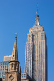 Empire State Building in Manhattan New York City Stock Images
