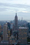 Empire State building and Manhattan view from Rockefeller Center, New York, USA Stock Photography