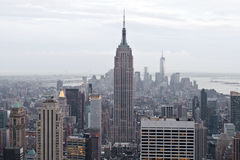 Empire State building and Manhattan view from Rockefeller Center, New York, USA Stock Photos