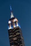 Empire State Building na noite Imagens de Stock Royalty Free