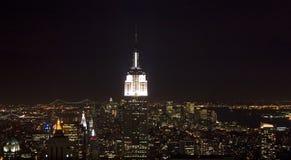 Empire State Building nachts Lizenzfreies Stockfoto