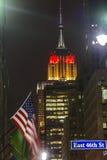 Empire State Building nel colore tedesco della bandiera Immagine Stock Libera da Diritti