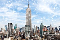 Empire State Building in New York Stock Photos