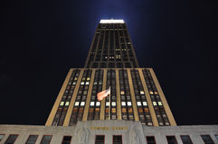Empire state building in new york city. Night shot of empire state building in manhattan Royalty Free Stock Image