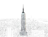 Empire state building royalty free illustration