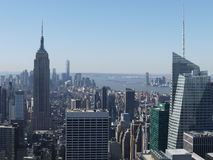 Empire State Building and New York City. View of New York City taken from the Rockefeller Centre Royalty Free Stock Photo