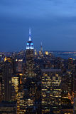 Empire State Building in New York at dusk Stock Photo