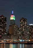 Empire State Building at night Royalty Free Stock Photo