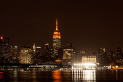 Empire State Building at Night Royalty Free Stock Photos