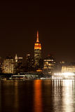 Empire State Building at Night Royalty Free Stock Image