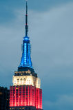 The Empire State Building at night Stock Images