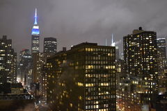 Empire State Building at night Stock Photos