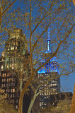 Empire State Building at night. Royalty Free Stock Photography