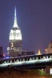 Empire State Building, noc Obraz Stock