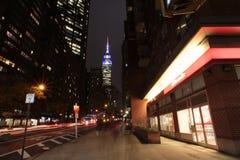 Empire State Building nocą, Nowy Jork, usa Obrazy Stock
