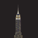 Empire State Building. The Empire State Building is one of the most famous skyscrapers in the world, built in just 18 months during the Great Depression, it was Royalty Free Stock Image