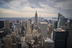 Empire State Building. Over a Light Storm Stock Photography