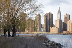 Empire State Building seen from Long Island City Royalty Free Stock Photos