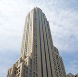 Empire State Building. Seen from the 5th Avenue royalty free stock images