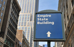 Empire State Building sign Royalty Free Stock Photography