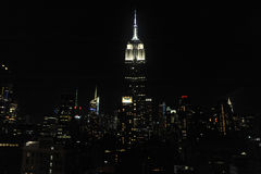 Empire State Building and skyline at night Royalty Free Stock Image