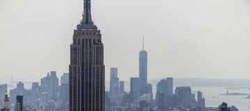 Empire State Building and Skyline Panorama Royalty Free Stock Photo