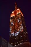 Empire State Building - springa utplåning Arkivbilder