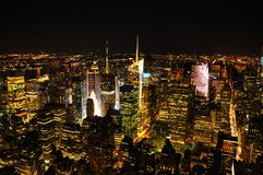 Night view of New York from Empire State Building stock image