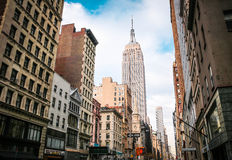 Empire State Building. Street view of New York with Empire State Building Royalty Free Stock Image