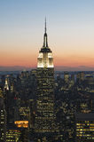 Empire State Building at sunset Royalty Free Stock Photography